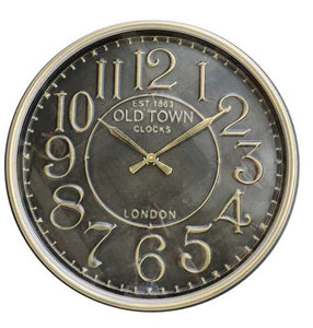Old Town Metal Wall Clock - Taiwan Movement