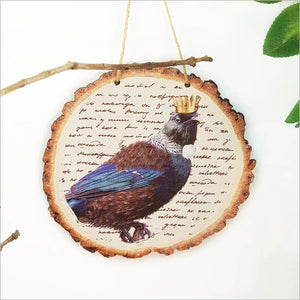Wood Slice Art: Vintage Tui
