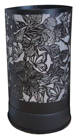 Butterfly and Roses Black Touch lantern with Clear Insert