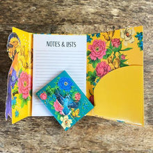 Load image into Gallery viewer, Yellow Mexican Floral Magnetic Notepad