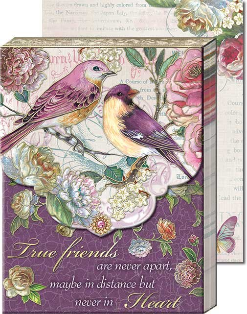 True Friends Birds Words of Wisdom - Pocket Notepad