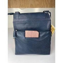Load image into Gallery viewer, Baron Navy Allegra Leather Handbag