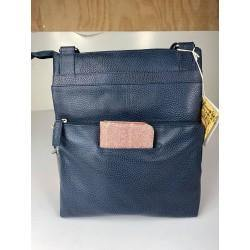 Baron Navy Allegra Leather Handbag