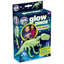 Load image into Gallery viewer, Glow in the Dark Dinos T-Rex Skeleton