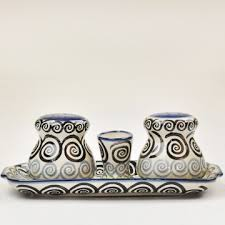 Salt & Pepper Set Whirlpool Blue/Green
