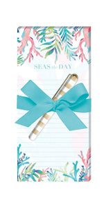 Colourful Coral - Magnetic List Pad with Pen