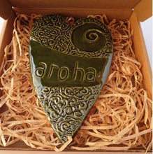Load image into Gallery viewer, Ceramic Aroha Heart Wall art