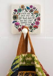 Wooden Wall Hook: Wise Girl - Tigerlily Gift Store
