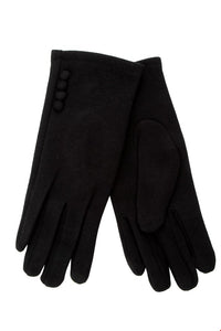 Thermal Glove with Button Trim
