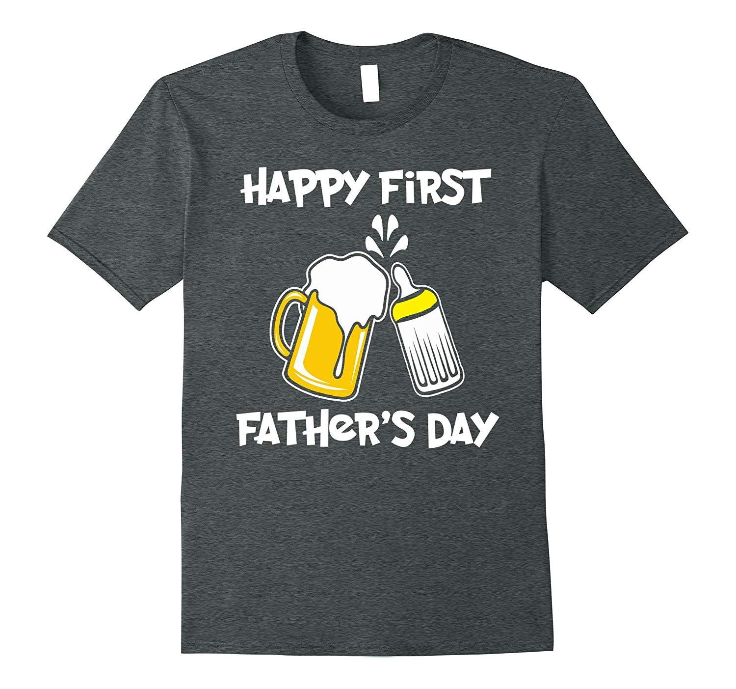 d734124c9 Buy D Happy First Father's Day T-Shirt, Funny Dad Tee for Men tshirt ...