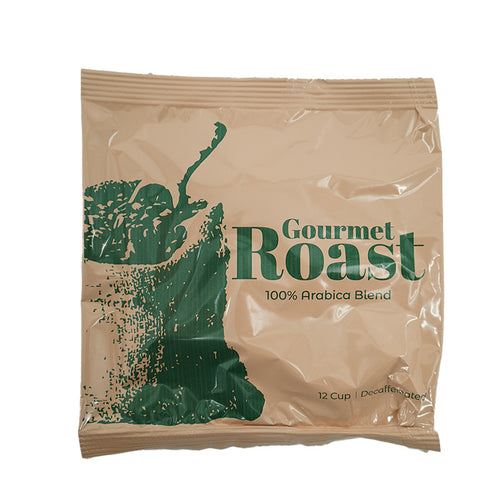 Gourmet Roast 100% Arabica Decaf Coffee-12 cup, 100cs