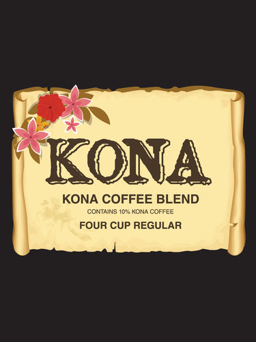 Hawaii Kona Blend Regular Coffee-4 cup, 200cs