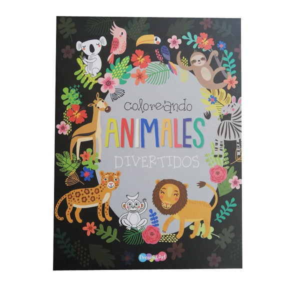 Libro Coloreando Animales 24pag
