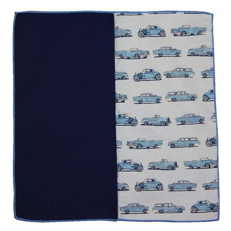 Pocket Square - Classic Cars Cotton