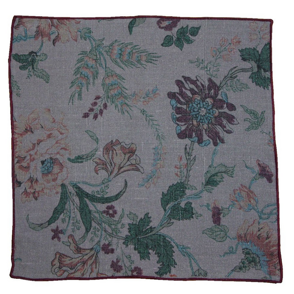 Pocket Square - Floral Linen