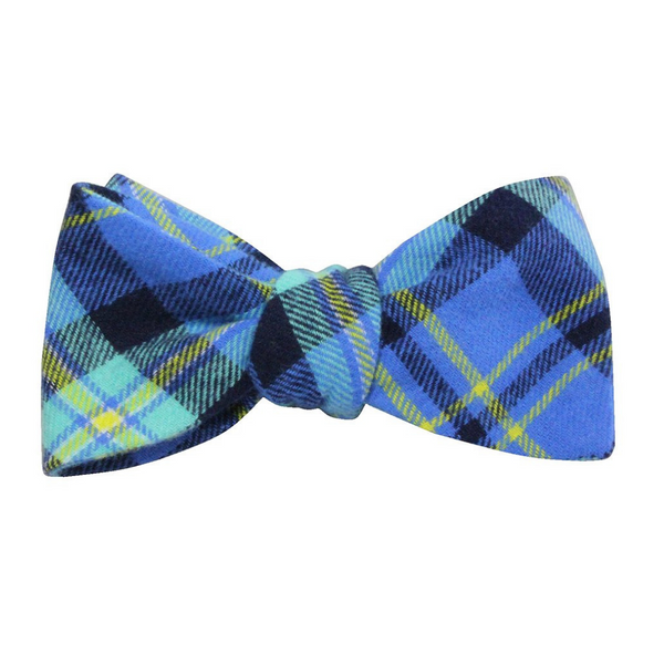 Bowtie - Royal Blue Plaid