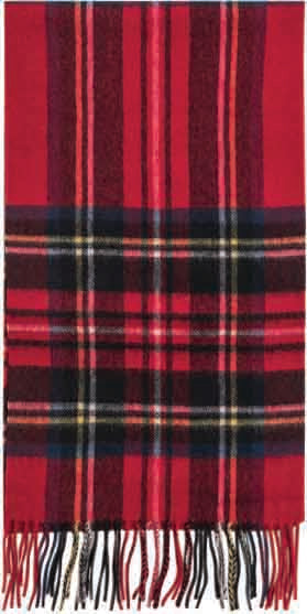 Failsworth Lambswool scarf in Royal Stewart tartan