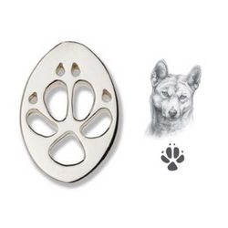 Bushprints hat pin - Dingo