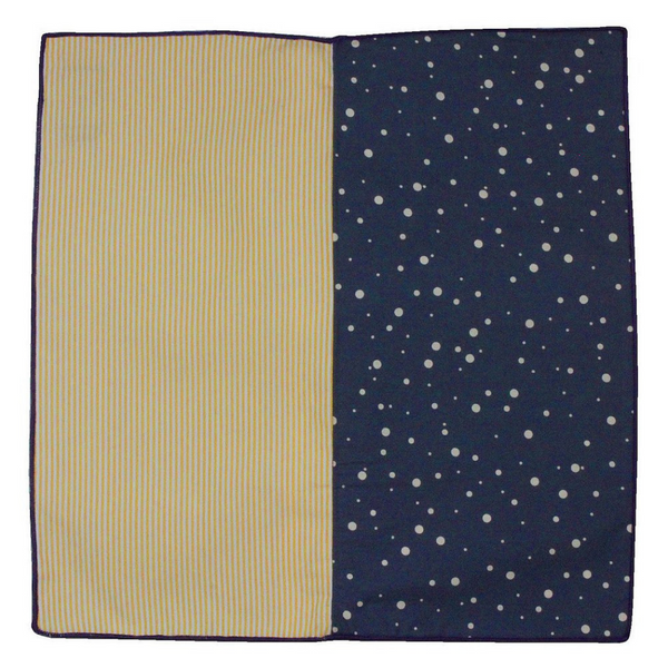 Pocket Square - Polka Dot and Stripe