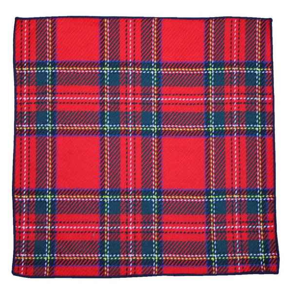 Pocket Square - Royal Stewart Wool