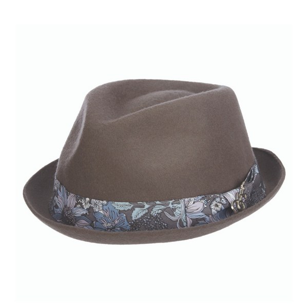 Angle view of Carlos Santana Accord hat in Grey