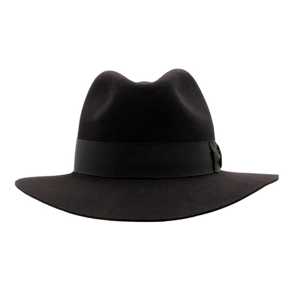 Front view of Akubra Adventurer hat in Black