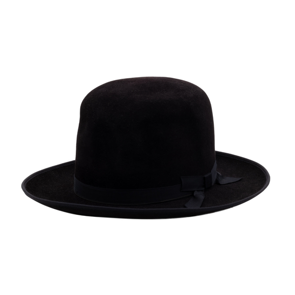 angle view of Akubra Campdraft hat in black