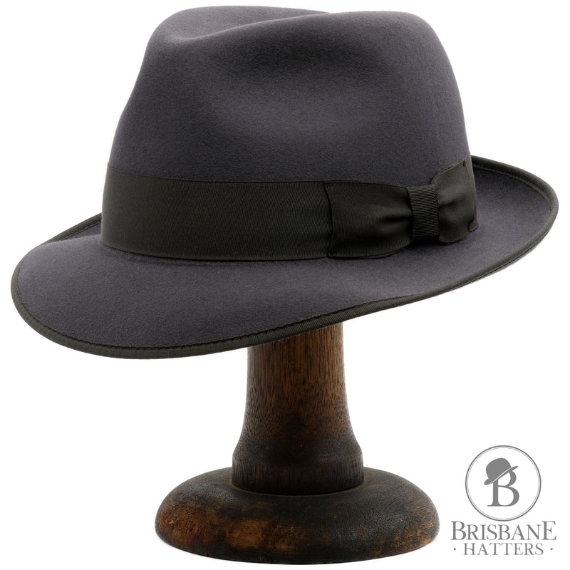 Akubra Hampton - Carbon Grey - Brisbane Hatters
