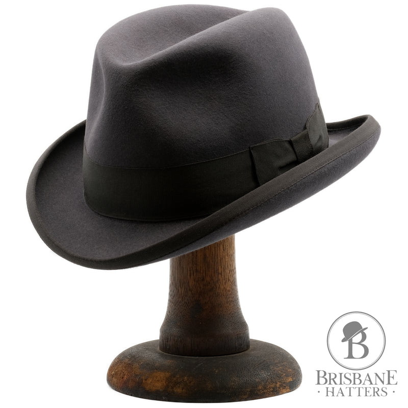 Akubra Homburg - Carbon Grey - Brisbane Hatters
