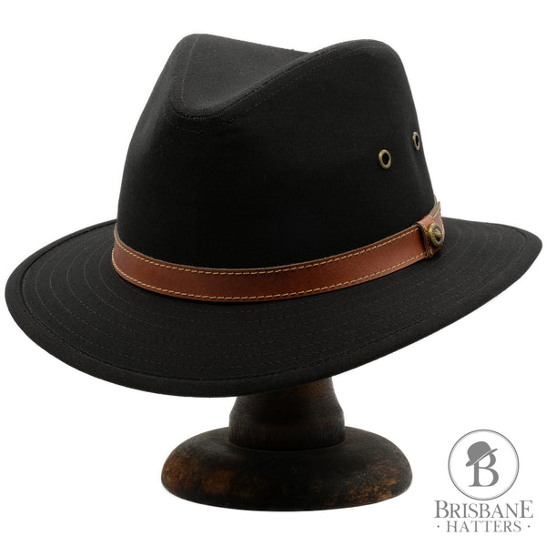 Avenel Blocked Canvas Safari - Black - Brisbane Hatters