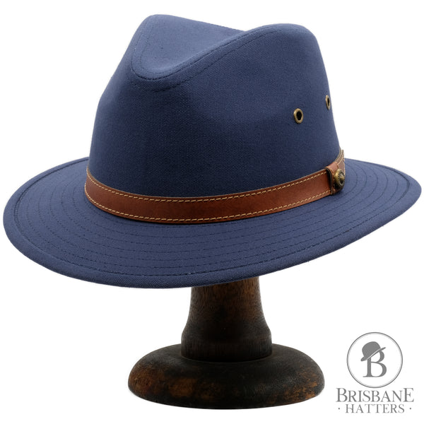 Avenel Blocked Canvas Safari - Navy - Brisbane Hatters