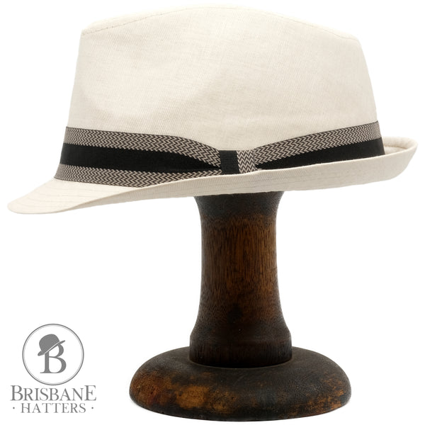 Avenel Cotton Poly Trilby - Natural