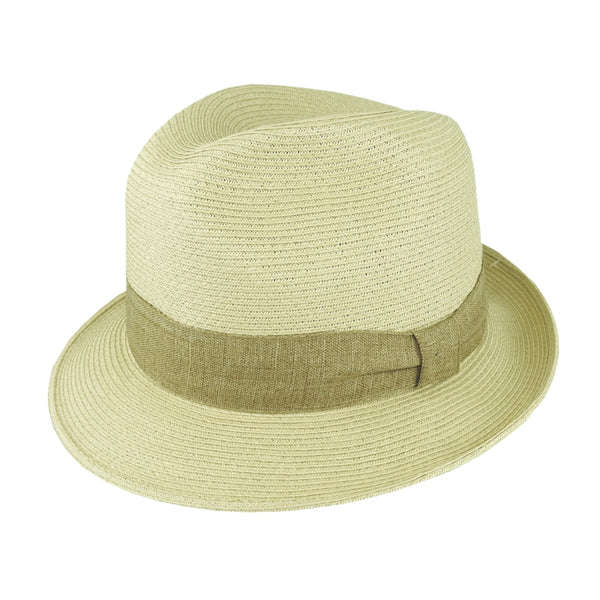 Avenel Fine Braid Toyo Fedora - Natural