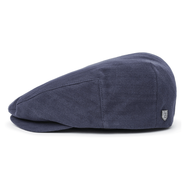 Side view of Brixton Hooligan cap in Washed Navy