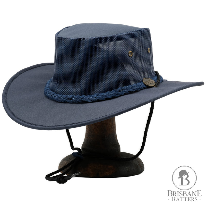 Barmah Canvas Drover - Navy