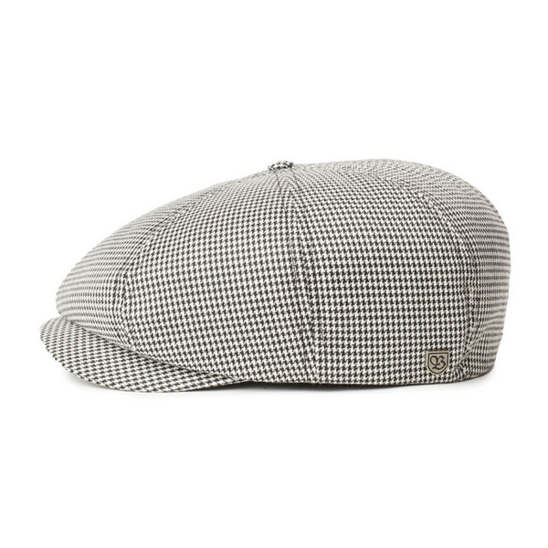Brixton Brood cap - Off White/Black houndstooth