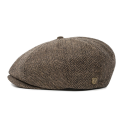Brisbane Hatters Brixton Brood 8-piece cap in brown/khaki colour