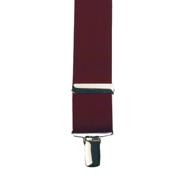 Detail of Solid Burgundy colour X-Back Braces made by Buckle