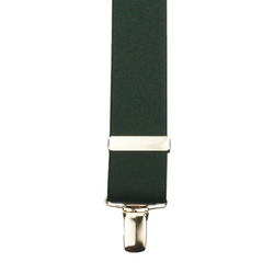 Detail of Solid Green colour X-Back Braces made by Buckle