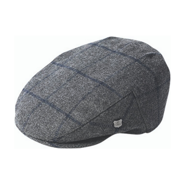 Failsworth Cambridge wool cap in flannel check