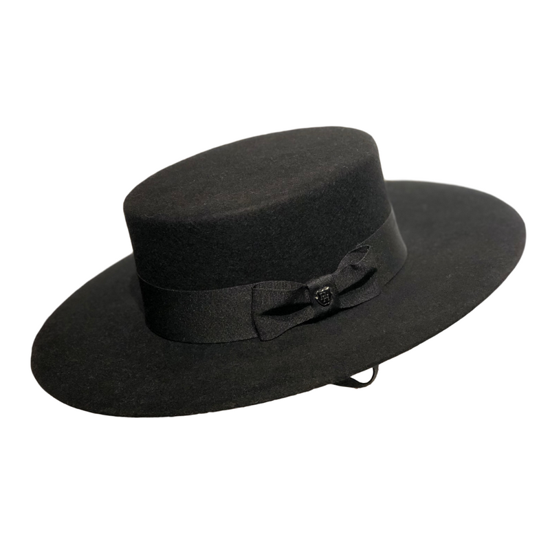 Brisbane Hattters Hills Hats Wool Gaucho - Black