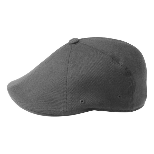 Side view of Kangol 504 flexfit cap in dark flannel