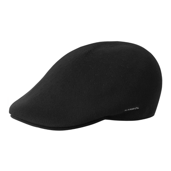 Side view of Kangol 507 bamboo cap in black