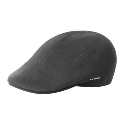 Side view of Kangol 507 bamboo cap in charcoal