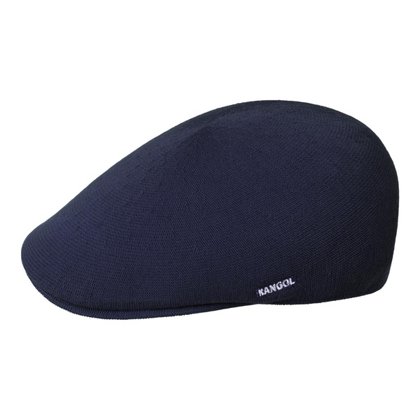 Side view of Kangol 507 bamboo cap in dark blue