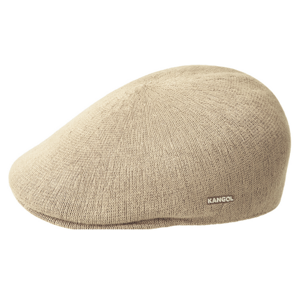 Side view of Kangol 507 bamboo cap in beige