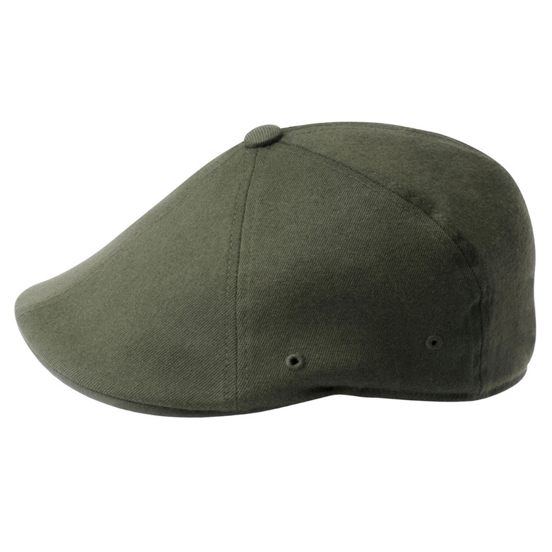 Side view of Kangol 504 flexfit cap in loden