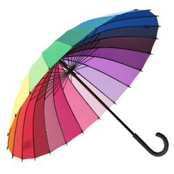 Rainbow Soake umbrella  shown open