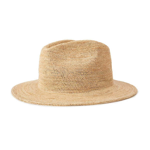 Brixton messer III rafia hat in Tan