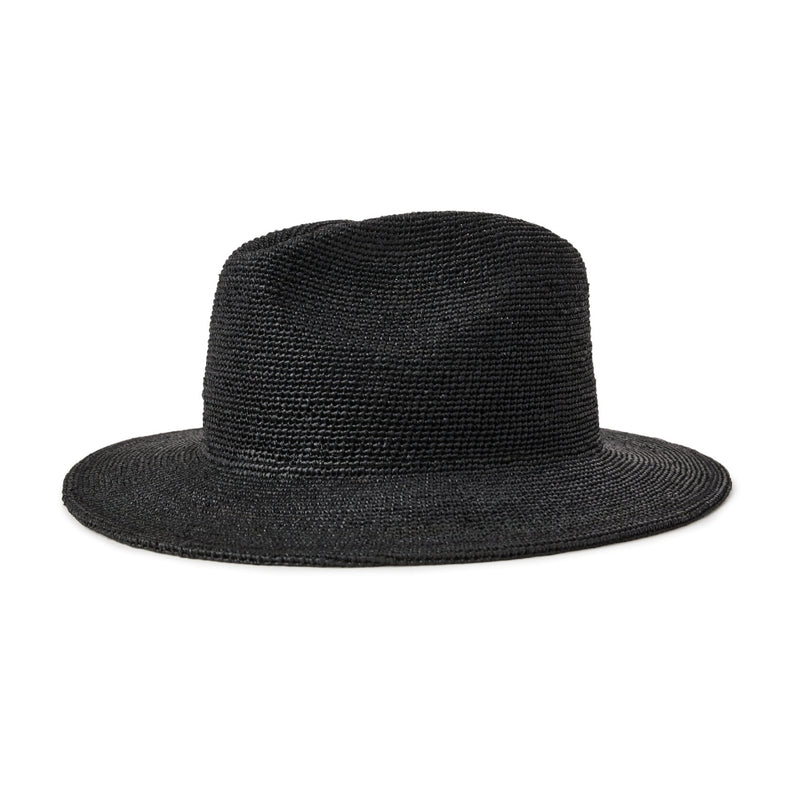 Brixton Messer III Rafia hat in Black
